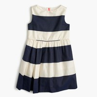 Girls' sateen rugby-striped dress