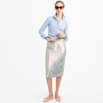 Collection tricolor sequin skirt : | J.Crew