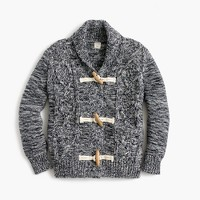 Boys' shawl-collar marled cardigan sweater
