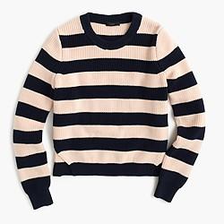 Cotton striped crewneck sweater