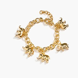 J.Crew for David Sheldrick Wildlife Trust elephant charm bracelet