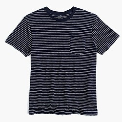 Textured pocket T-shirt in stripe