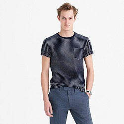 Tall textured pocket T-shirt in stripe