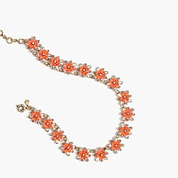 Neon floral necklace