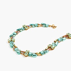 Mixed-crystal necklace