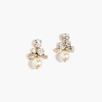 Pearl cluster earrings
