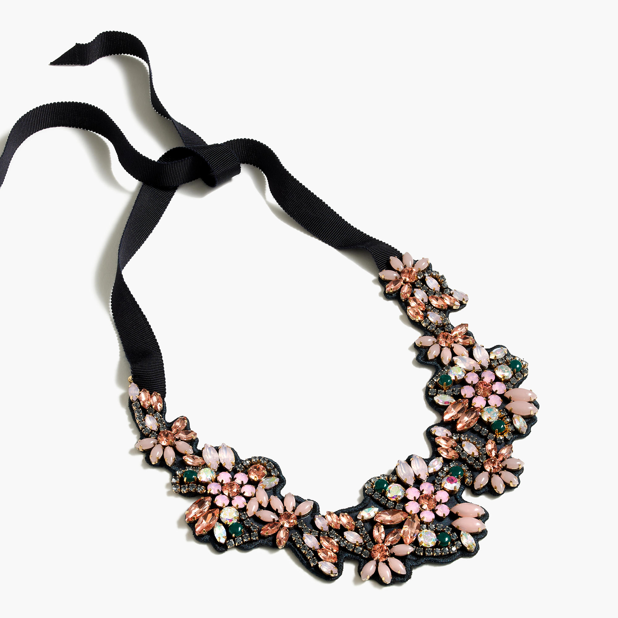 Fabric backed crystal cluster necklace women 39 s necklaces for J crew jewelry 2015