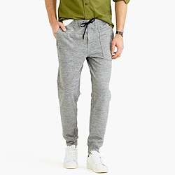 Utility jogger pant in cotton jersey