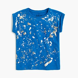 Girls' splatter paint T-shirt
