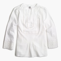 Thomas Mason® for J.Crew lace trim top