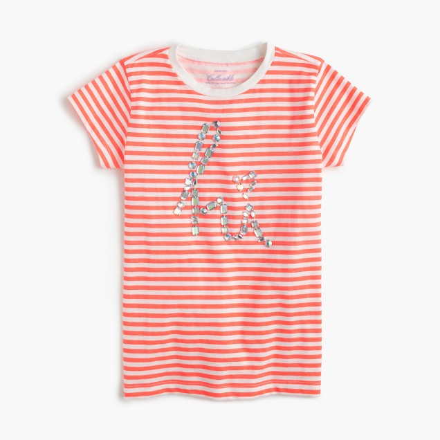 Girls' striped hi T-shirt