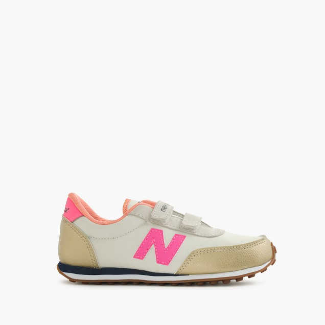 Girls' New Balance for crewcuts 410 sneakers in metallic