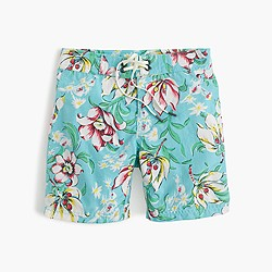 Boys' board short in blue floral