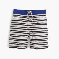 Boys' board short in engineered stripe