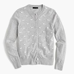 Clip-dot cotton Jackie cardigan sweater