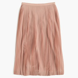 Micro-pleated midi skirt