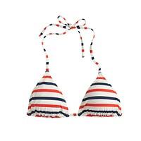 String bikini top in multistripe