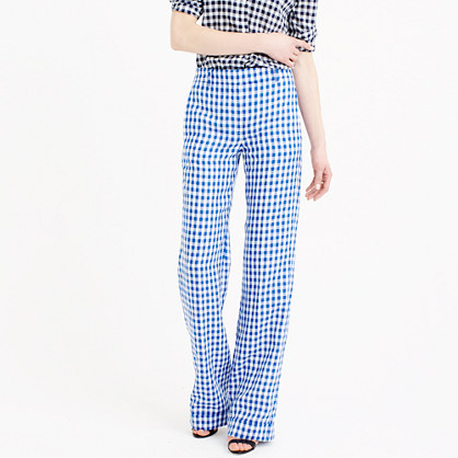 Linen pant in gingham
