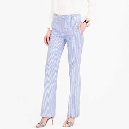 Petite striped cotton pant