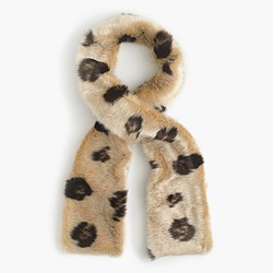 Girls' leopard faux-fur scarf