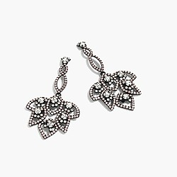 Lotus pavé earrings