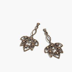 Lotus pavé earrings