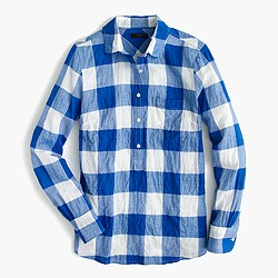 Popover shirt in buffalo check