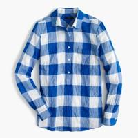 Popover shirt in buffalo check