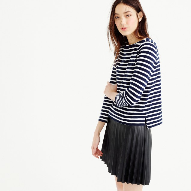 Midweight striped boatneck T-shirt