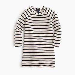 Girls' striped sweater-dress