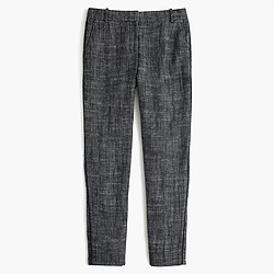 Cropped pant in textured herringbone