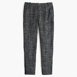 Cropped pant in textured herringbone