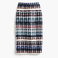 Collection silk skirt in tie-dye print