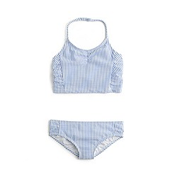 Girls' seersucker tankini set