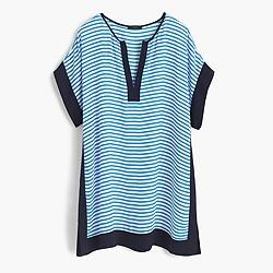 Colorblock beach tunic in stripe