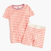 Girls' short-sleeve pajama set in stripe