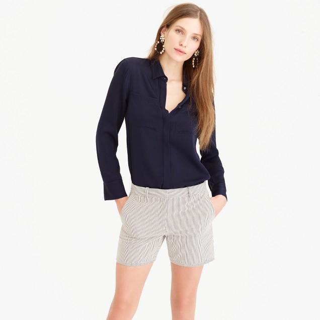 Bermuda short in skinny stripe