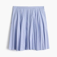 Flouncy striped skirt