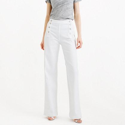 Point Sur sailor jean in white
