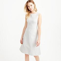 Tall diamond jacquard with piqué A-line dress