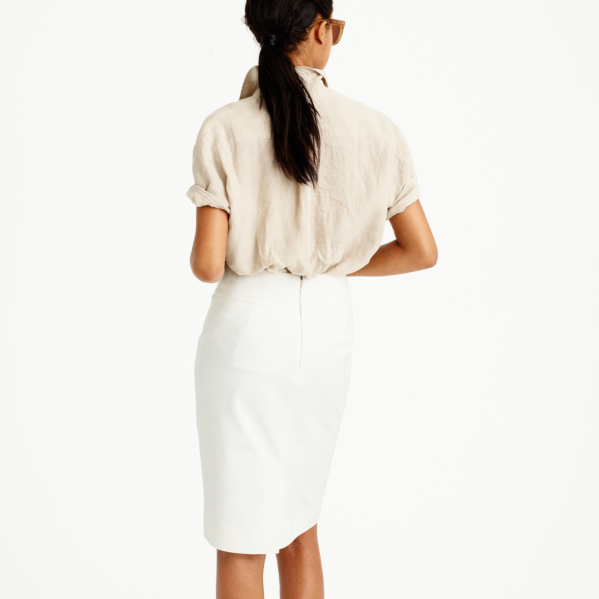 No. 2 Pencil Skirt In Bi-Stretch Cotton : Women's Skirts | J.Crew