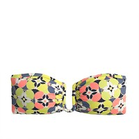 U-front bandeau bikini top in kaleidoscopic floral