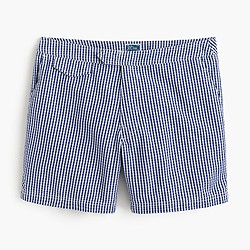 "6.5"" tab swim short in gingham seersucker"