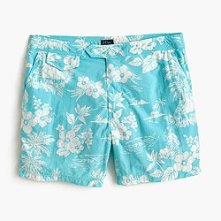 "6.5"" tab swim short in tropical floral"