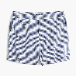 "6.5"" tab swim short in seersucker stripe"