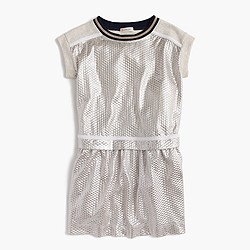 Girls' shimmer jersey dress