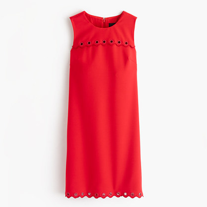 Scalloped dress with grommets