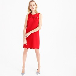 Petite scalloped dress with grommets