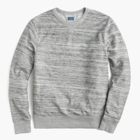 Space-dyed reverse terry sweatshirt