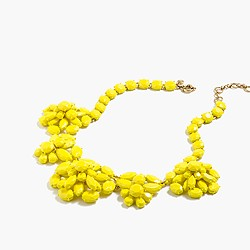 Lemon crystal necklace